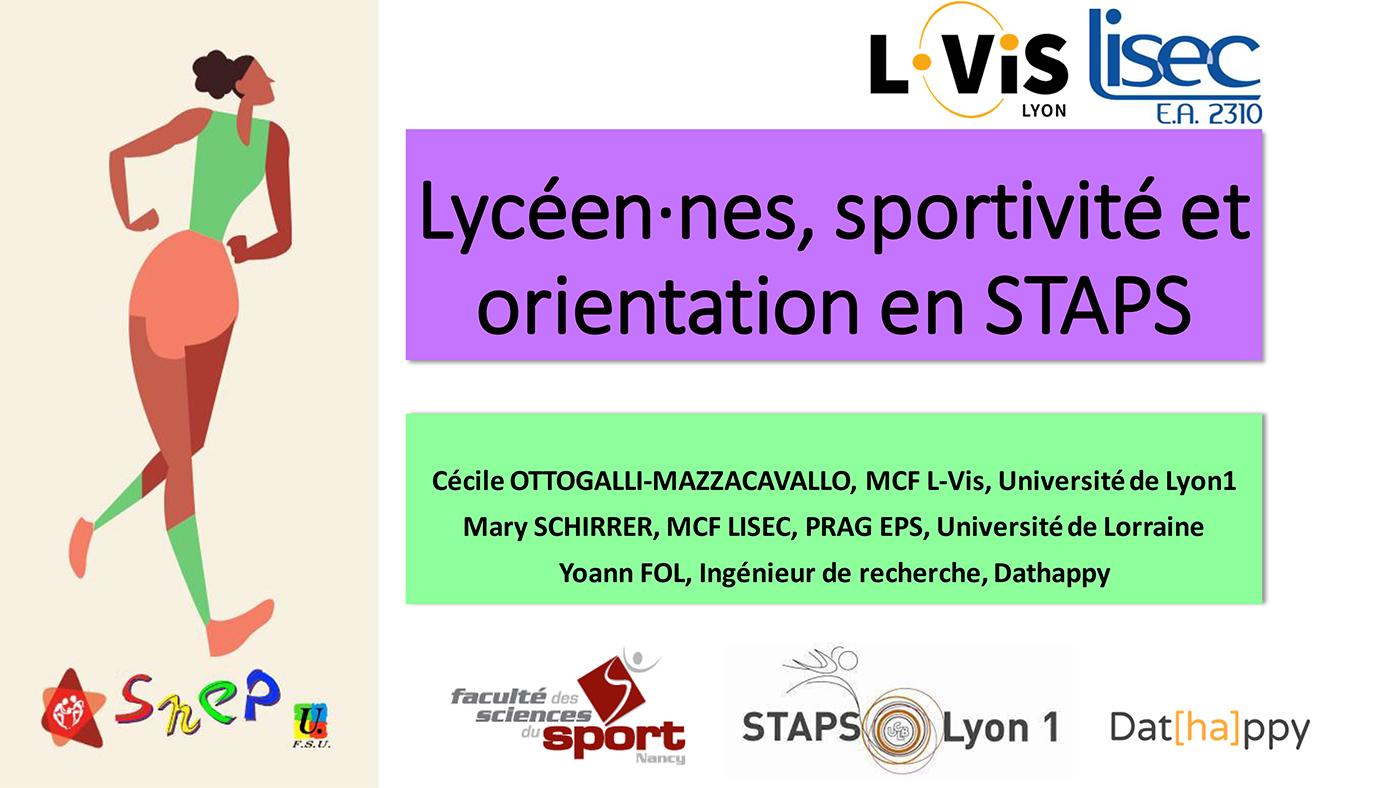 Résultats de la recherche «Lycéen-nes, sportivité et orientation en Staps»